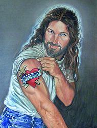 jesus tatoué
